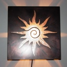 Sunburst Media Room Sconce