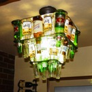 2 Tier 24 Beer Bottle Chandelier