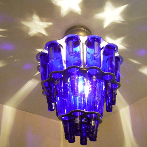 Bottle Chandelier Kit: 2 Tier 18 Beer Bottle Round Chandelier