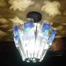 Beer Bottle Light Fixture 